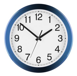 Wall clock isolated on white background. Ten to two.
