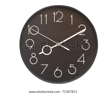 wall clock on the white background