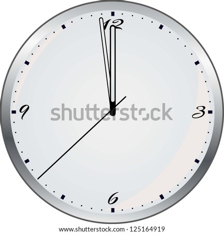 Wall Clock. Raster Version. - stock photo