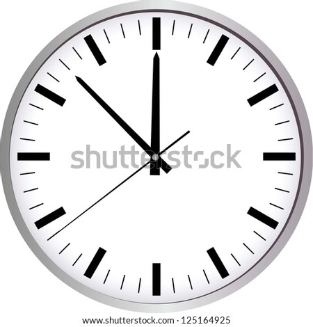 Wall Clock. Raster Version.