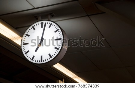 Wall Clock Used to tell time On BTS Station #768574339