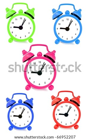 Wall clocks with various colors