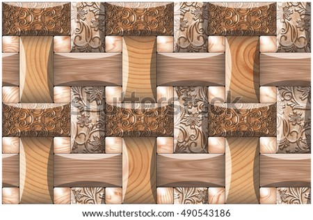 wall-covering tile pattern background