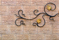 wall decoration of metal flowers