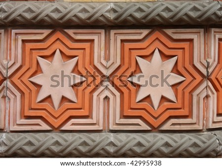 Wall decoration on the Great Synagogue in Budapest