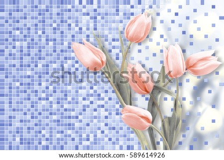 wall flower and texture
