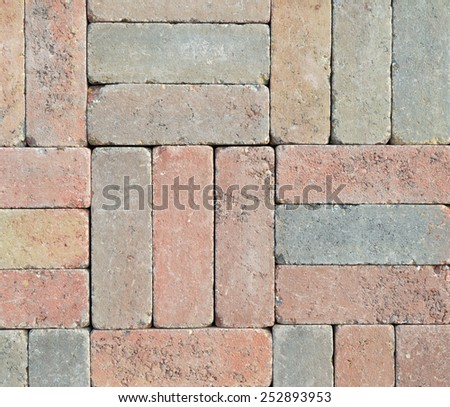 Wall from different colored bricks put together