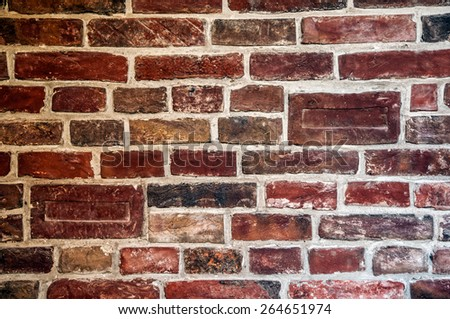 wall in the interior of the old Austrian brick