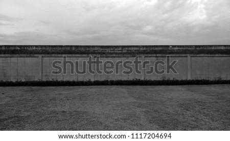 Wall in the park