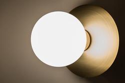 Wall light bulb globe illuminated