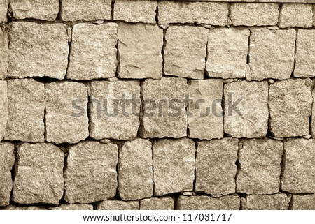 wall made of many stone block