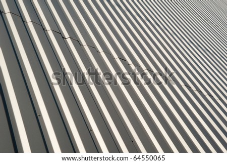 Wall modern buildings recoated metallic grooved sheet