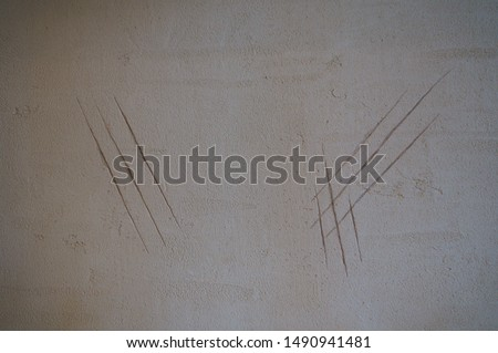 wall Nail mark dinosaur Beast #1490941481