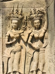 wall of Angkor Watt Cambodia