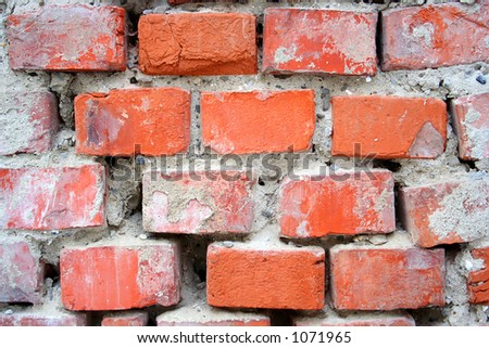 Wall of brick - close-up
