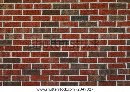 Wall of bricks with earth tones