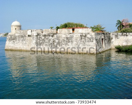 Wall of Cartagena de Indias, Colombia