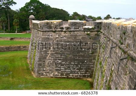 Wall of Castillo de san marco