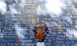 Wall of Love, Montmartre, Paris France / Le mur des je t'aime Paris