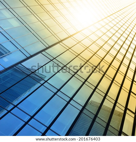 Wall of office building close up #201676403