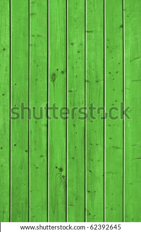 Wall of pine green wood board. Lining closeup, frontally.