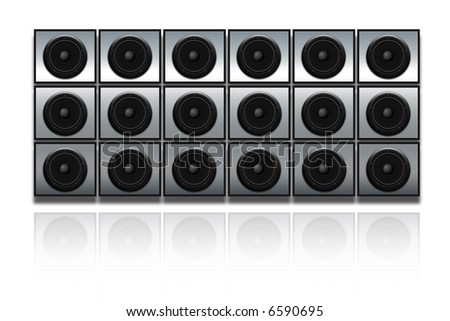 Wall of speakers - Wall of sound