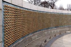 Wall of Stars World War II Memorial Washington DC National Mall