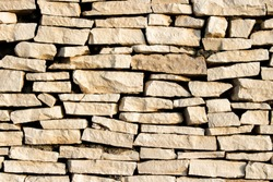 Wall of stones. Stone slabs. Can be used as a texture, background or wallpaper