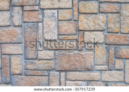 Wall of the block pattern