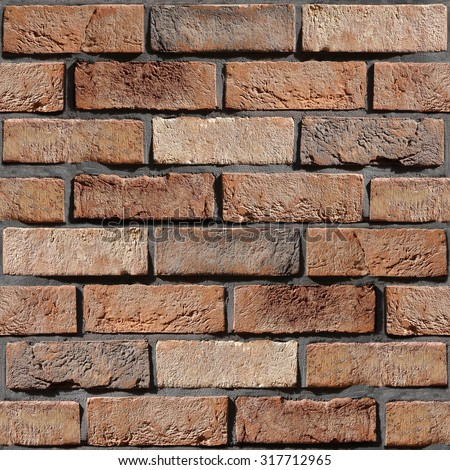 Wall of the brick - decorative tiles - Interior wallpaper - decorative pattern - seamless background - rustic appearance - classic style decoration - Wallpaper texture - Continuous replication