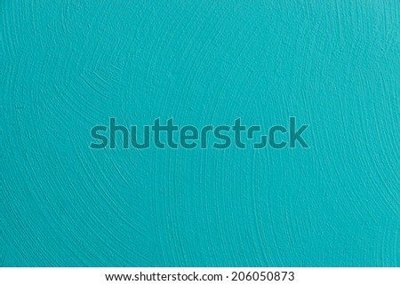 Wall painted in blue texture