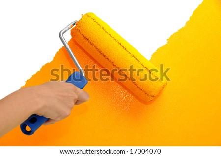 Wall painting - Orange