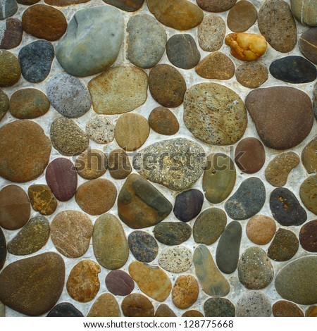Wall round stone rock texture for backgourd