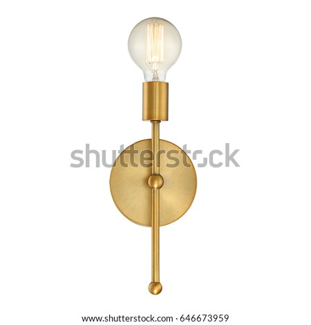 wall sconce isolated on white...
