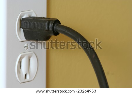 Wall socket and plug