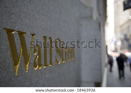 Wall Street plaque, Manhattan, New York City-03 june 2008