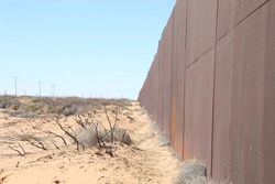 Wall that divides the border between the city of Juarez, the Texas pass from the Mexican side, is the rancho anapra colony, the place where migrants cross to the United States illegally