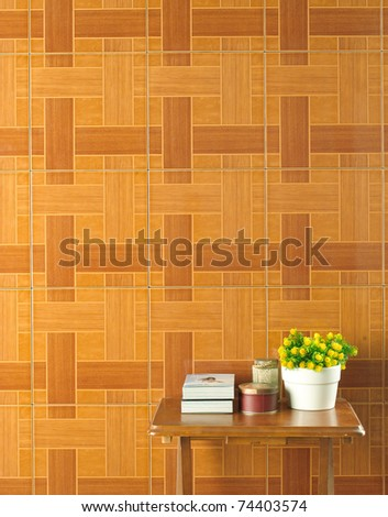 Wall tiles interior decorates in warmth atmosphere bathroom