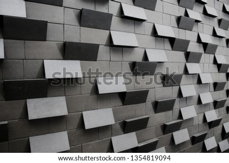 wall tiles texture, Waving On and off installation, concept image for abstract and futurist design.  #1354819094