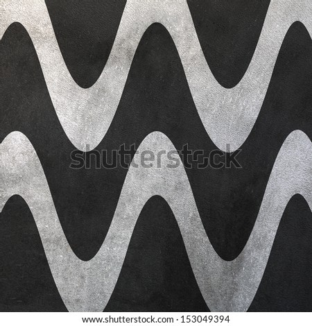 Wall wavy lines abstract pattern