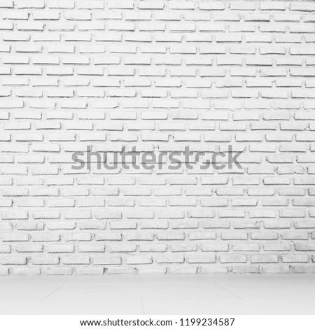 Wall white brick texture background #1199234587