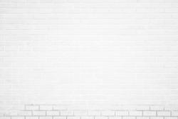 Wall white brick wall texture background. Brickwork or stonework flooring interior rock old pattern clean concrete grid uneven bricks design stack.