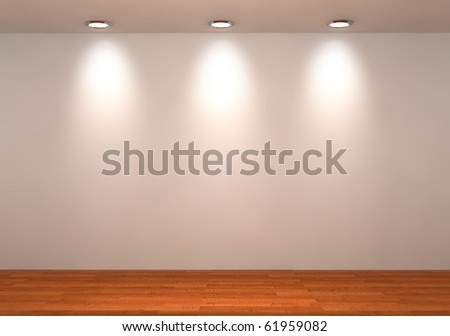 wall with a spot illumination - stock photo