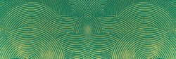 Wall with abstract protruding circles. Golden sand. Color - Elm, Witch Haze, Hue Green. Concept of a fantastic pattern for a backdrop.