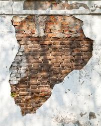 wall with an old plaster as a background