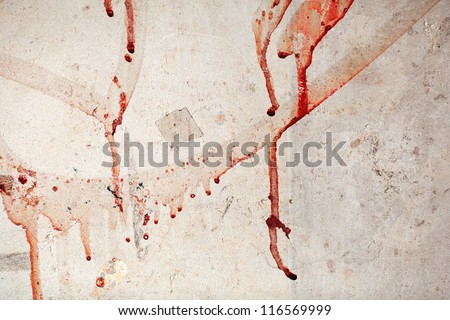 wall with blood