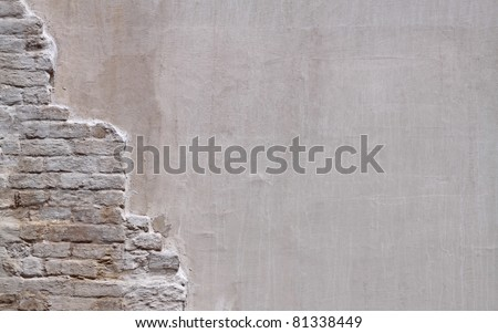 Wall with old bricks as background