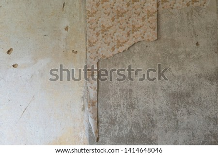 Wall with Wallpaper old house #1414648046