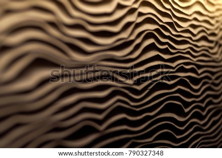Wall with zigzag and trench pattern #790327348