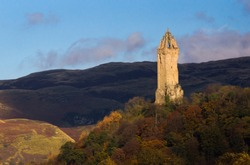Wallace Monument, autumn, Stirling, Scotland